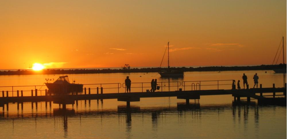 Dongara marina sunset fishing