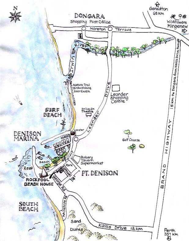 Rockpool Beach House Map